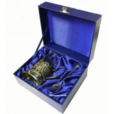 Подарочный набор с латунным подстаканником