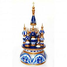 Русский сувенир Музыкальный собор (гжель, цветы)