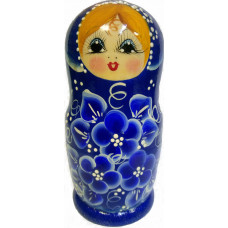 """Матрешка """"Незабудка синие цветы"""" 5 мест"""