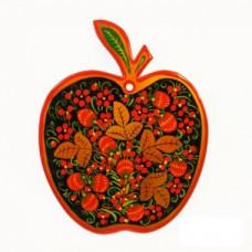 "Доска разделочная ""Хохлома"" форма яблоко"