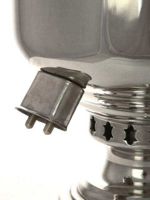 Самовар комбинированный никелированный 5 литров банка