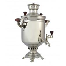 Самовар угольный никелированный 7 литров банка