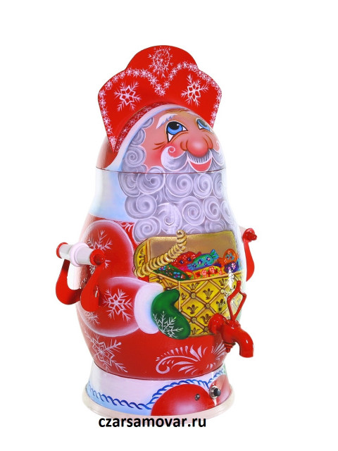 """Самовар электрический 3 литра с художественной росписью """"Дед Мороз"""" автоотключение"""