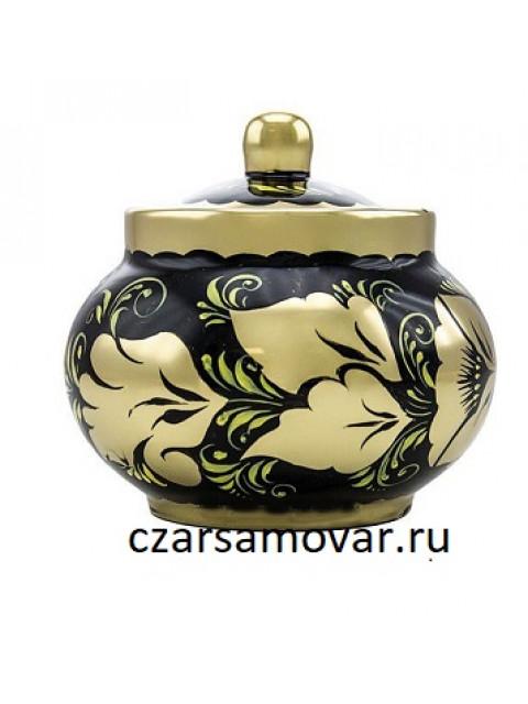 """Набор электрический 3 литра с художественной росписью """"Золотые цветы"""" 4 предмета"""