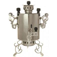 Самовар угольный  никелированный 2 литра