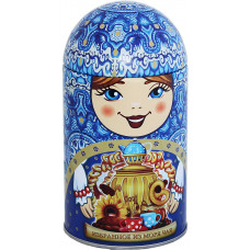Чай Матрешка сувенирная с самоваром 40 гр.