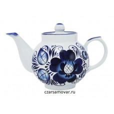 """Заварочный чайник с художественной росписью """"Гжель"""""""