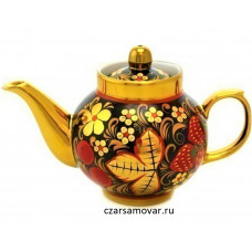"""Заварочный чайник с художественной росписью """"Хохлома"""""""