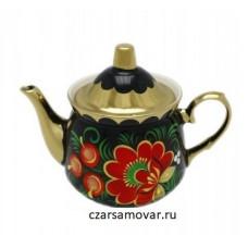 """Заварочный чайник с художественной росписью """"Маки красные"""""""