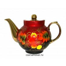 """Заварочный чайник с художественной росписью """"Кленовые листья"""""""