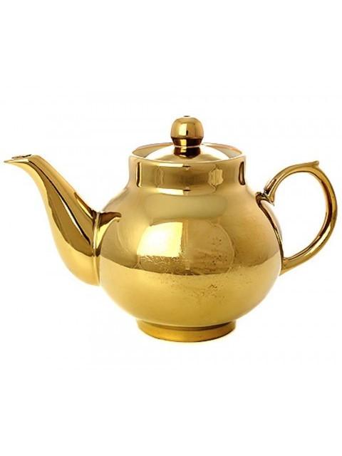 Керамический чайник для заваривания с напылением под золото