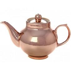 Керамический чайник для заваривания с напылением под медь