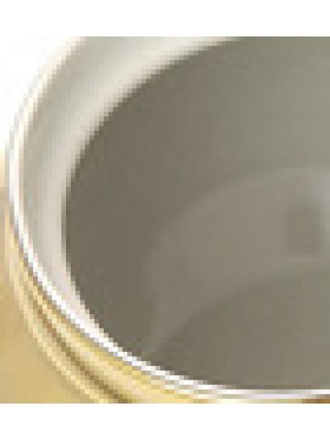 Керамическая сахарница с напылением под золото