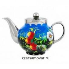 """Заварочный чайник с художественной росписью """"Лесная поляна"""""""