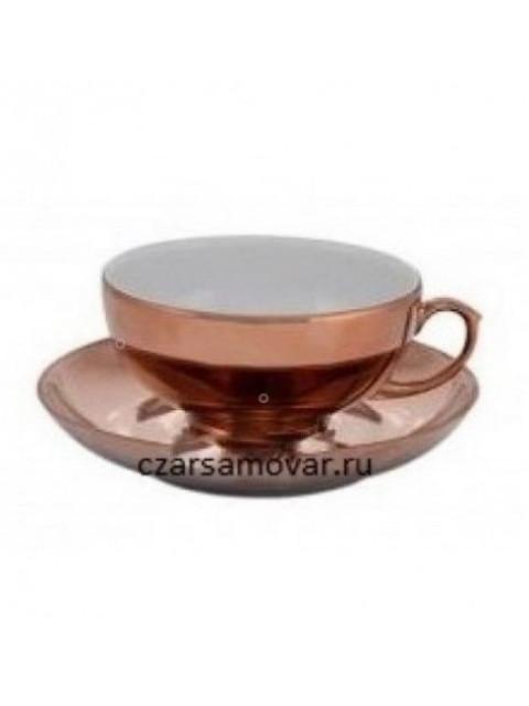 Чайная пара с напылением под медь