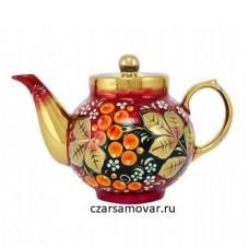"""Заварочный чайник с художественной росписью """"Рябина"""""""
